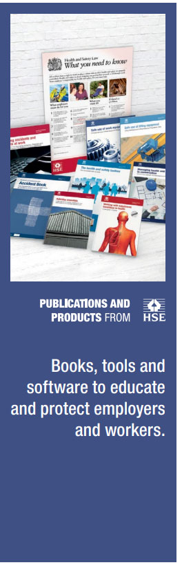 Publications and Products from HSE: Books, tools and software to educate and protect employers and workers.